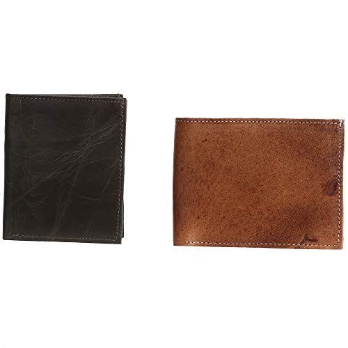 Genuine Leather Wallets Purse Handmade Causal Daily Use Wallets Unisex (AE952, ()