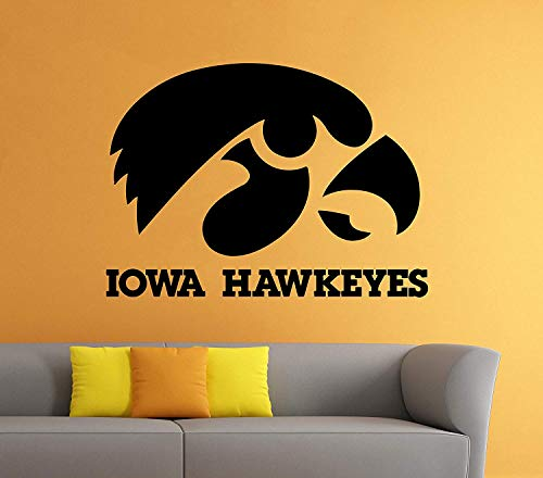 for Iowa Hawkeyes Wall Decal Vinyl Sticker NCAA College Football Home Interior Removable Decor (22