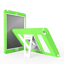 iPad Air 2 Case - MoKo [Kickstand] Durable Hybrid Silicone + Hard Polycarbonate Kid Proof Extreme Duty [Shock-Absorption] with Foldable Stand Protective Cover for iPad 6 9.7 Inch Tablet, GREEN