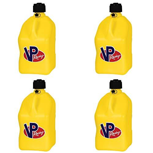 (4 Pack VP 5 Gallon Square Yellow Racing Utility Jugs)
