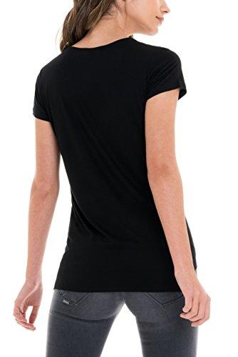 SALSA Camiseta básica con encaje Negro