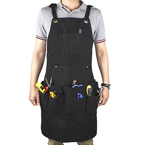 Upgraded Heavy Duty Canvas Apron GES Multi-Use