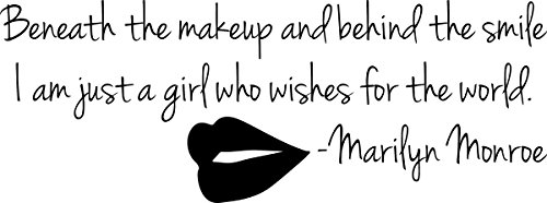 Marilyn Monroe Beneath The Makeup Quote: Top Smile Quotes Wall Decals