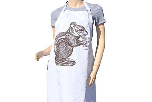 Kitchen Apron - Brown Chipmunk Apron - Crafting Apron - Baking Apron - Animal Apron
