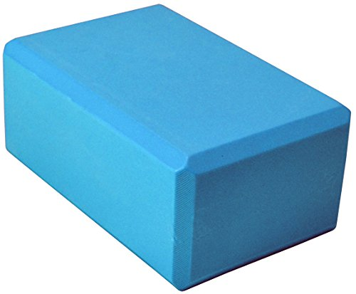 YogaAccessories (TM) 4'' Foam Yoga Block - Light Blue