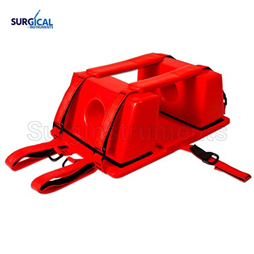 Emergency Spine Board Reusable Head Immobilizer for EMS/EMT Red Color