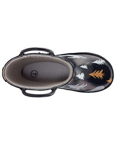 Oakiwear Kids Rubber Rain Boots With Easy-on Handles, Wildlife Tracker, 4Y US Big Kid - Image 8