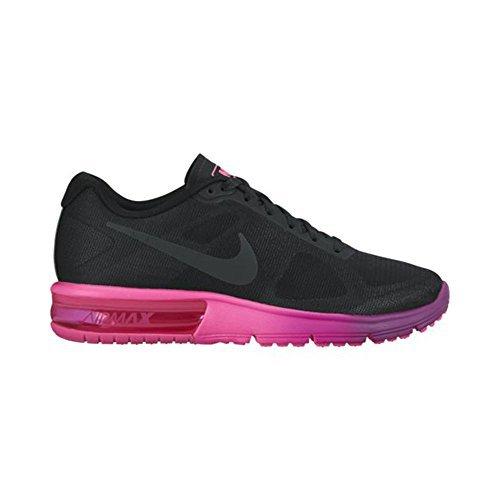 Nike Women's Air Max Sequent Running Shoe (6 B(M) US, Bla...