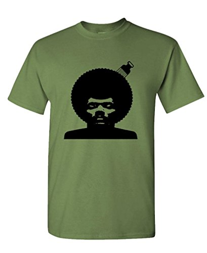 PETE ROCK AFRO - hip hop rap early music - Mens Cotton Tee, XL, Military