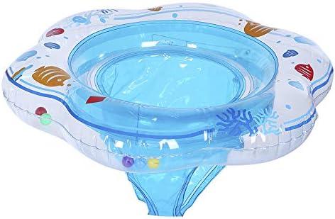 赤ちゃん浮き輪 ベビー浮き輪 足入れ ベビー スイミングリング お風呂の浴槽用 スイミング道具 プールアウトドア 強い浮力 水泳練習 水泳 浮き水泳 男女兼用 軽量便利 (ブルー)