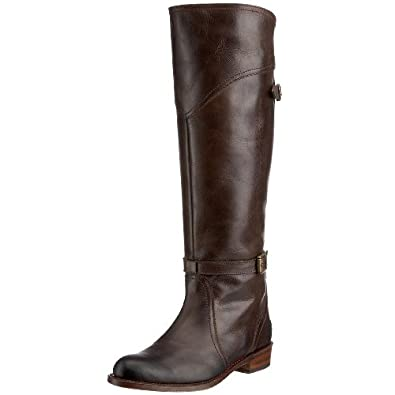 Amazon.com | FRYE Women's Dorado Buckle Riding Boot | Knee-High