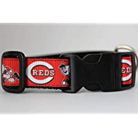 Cincinnati Reds Dog Collar | Baseball Dog Collar | Reds Dog Collar | MLB Dog Collar | Adjustable Dog Collar | Sport Dog Collars | Dogs