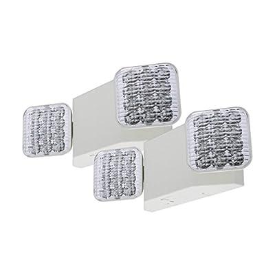 LFI Lights - 2 Pack - Hardwired LED Emergency Light Standard - ELW2x2