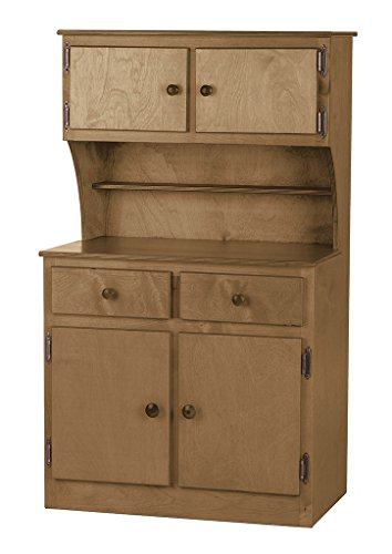 Children's Wooden Hutch Play Furniture - Harvest Stain - Amish Made in USA -