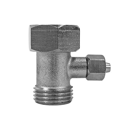 """Luxe Bidet 1/2"""" x 1/2"""" x 8mm Metal T-adapter with Rubber Was"""