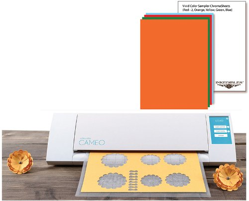 YummyInks Brand: Silhouette Cameo Cutter Bundle with 10 ChromaSheets