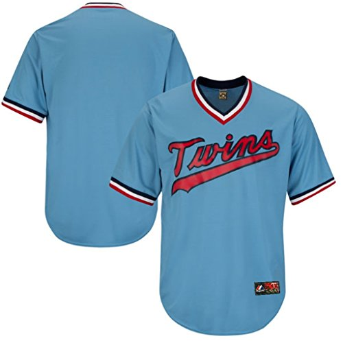 Minnesota Twins MLB Mens Majestic Cooperstown V Neck Jersey Blue Big & Tall Sizes (4XL)