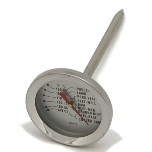Chef Craft 140-190-Degree Stainless Steel Meat Thermometer