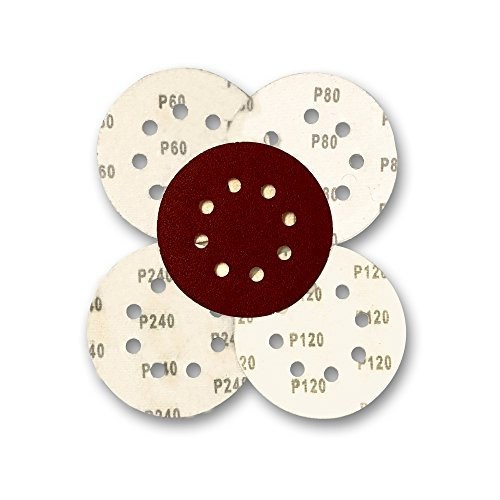 Astron Top 5-Inch Sanding Disc, 8-Hole, Hook & Loop, 10 E...