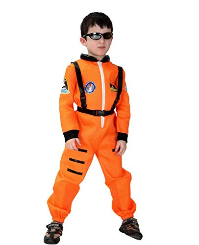Kalanman Kids Boys Deluxe Assorted Halloween Costume Classic Theme Party Dresses (M(Fit for 4-6 Age), Spaceman 43A)
