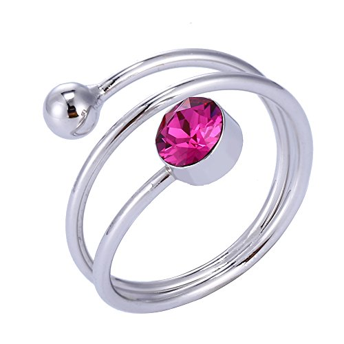 Costume Rings China From (Xuping Beautiful Cyber Monday Round Crystals from Swarovski Rings Women Jewelry Black Friday Gifts)
