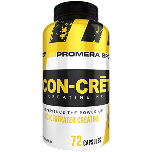 CON-CRET , 72 Capsules, The Original and Patented Pure Creatine HCl for Boosting Performance, Endurance, and Strength