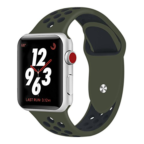 Sport Band Compatible Apple Watch 42mm 38mm,Soft Silicone Bracelet Replacement Wristbands Compatible Apple Watch Sport Series 3 Series 2 Series 1
