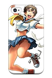 Anti-scratch And Shatterproof Street Fighter Sakura Phone Case For Iphone 4/4s/ High Quality Tpu Case