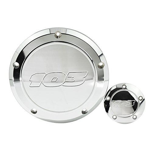 Chrome Derby Covers Billet (Rebacker Motorcycle 103 Derby Cover Timing Timer Cover Point Cover for Harley Dyna 99-17 Softail Touring,Chrome)