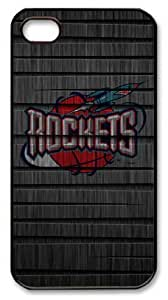 LZHCASE Personalized Protective Case For Ipod Touch 5 Cover NBA Sports Houston Rockets Logo in Wood Background