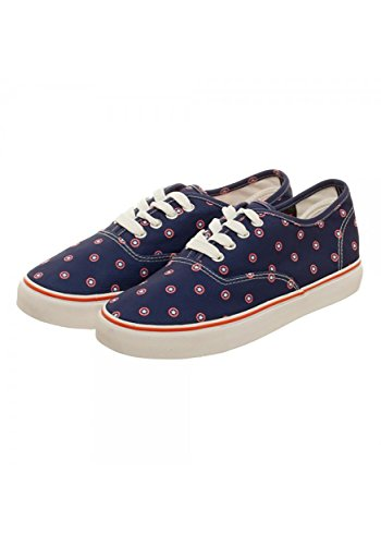 Marvel Captain American Navy Womens Canvas Shoes - - American Shoes Soldier