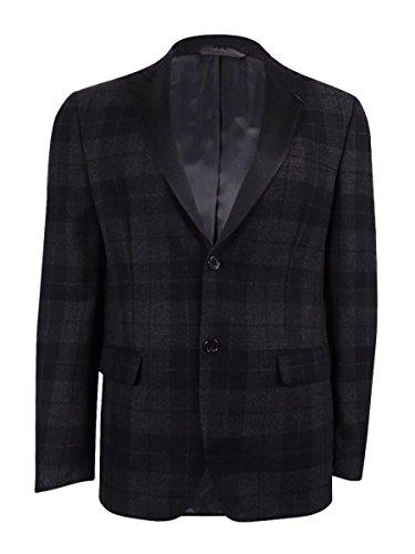 (Lauren Ralph Lauren Men's 100% Wool Blazer (46R, Charcoal/Black))