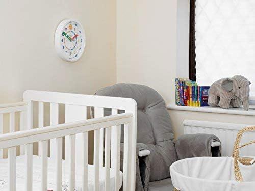 versione italiana non garantita bianco Orologio da parete per insegnare ai bambini a leggere e dire lora Amonev orologio con movimento silenzioso 28cm Diameter