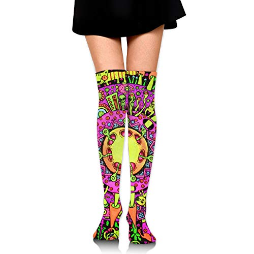 OFFWAYA Colorful Funny Dress Socks Magical A Psychedelic