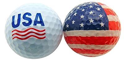 Westman Works Set of 2 Patriotic USA Golf Balls