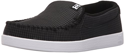 Plaid Leather Shoes (DC Men's Villain TX Skate Shoe,Black Buffalo Plaid,8 M US)