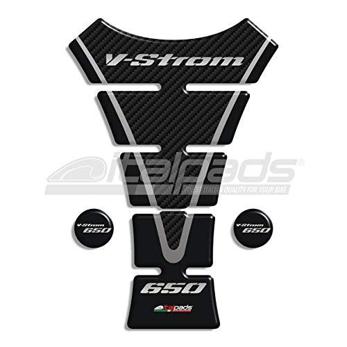 Protector De Depò sito para Suzuki V-Strom 650 mod.Texas negro-carbono 2P Italpads