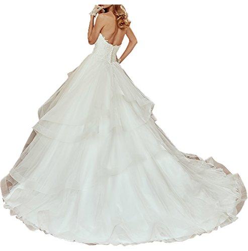 TOSKANA BRAUT - Vestido - trapecio - para mujer Weiß