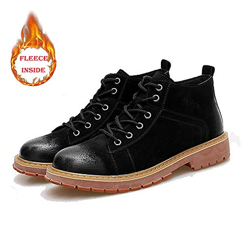 Interior shoes Libre Al Lana Aire Eu 40 Invierno Tamaño De Hombre Punta Redonda Bota Warm Para Opcional Alta convencional Black Shufang Imitación Black color Con 6dAqCw4x