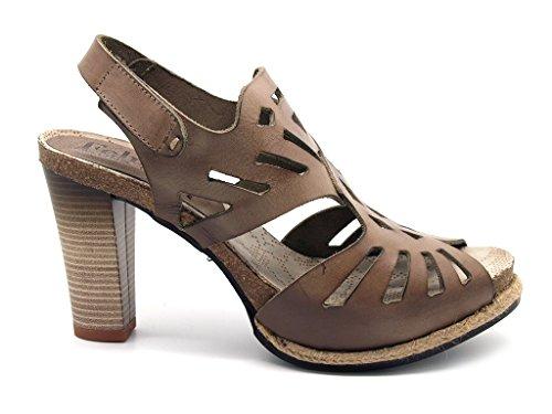 Felmini - Sandalias de vestir de Piel para mujer Avorio/Taupe