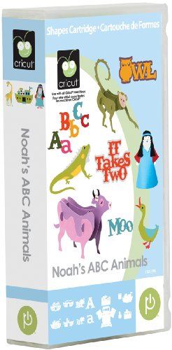 Cricut Noah'S ABC Animals Cartridge - Cartridge Animal Cricut