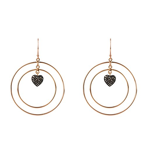 Diamond Double Hoop Heart Earring