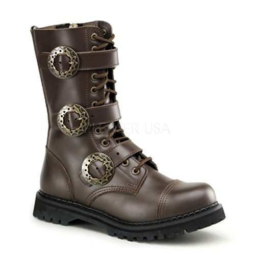 Demonia STEAM-12 Brown Leather Size UK 3 EU 36
