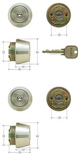 2個同一セットMIWA U9シリンダー LSPタイプ TE24 MCY-436 キー6本付属 鍵 交換 取替え 扉厚28~36mm向け MCY436 美和ロック LSP SWLSP B01I2GTNS8