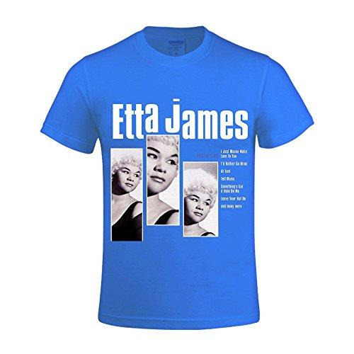 Ron Burns Tiger (Etta James The Best Of Etta James Printed T Shirts For Men Crew Neck Blue)