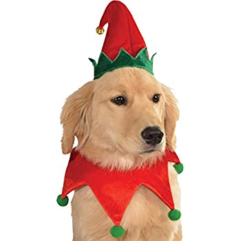 Rubie's Christmas Pet Costume, Medium to Large, Elf Hat with Bell - Amazon.com : Rubie's Christmas Pet Costume, Medium To Large, Elf Hat