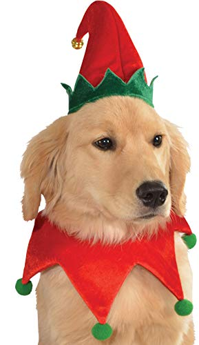 - Rubie's Christmas Pet Costume, Small to Medium, Elf Hat with Bell