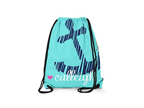 Tin Tree Gifts Customized Drawstring Backpack Anchor Beach Bag Personalized Backpack