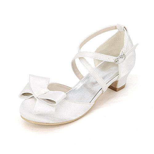 L@YC Girls Flat Shoes apartment Spring autumn Comfortable artificial Leather Wedding Outdoor Office & Professional Side & Evening Dress White