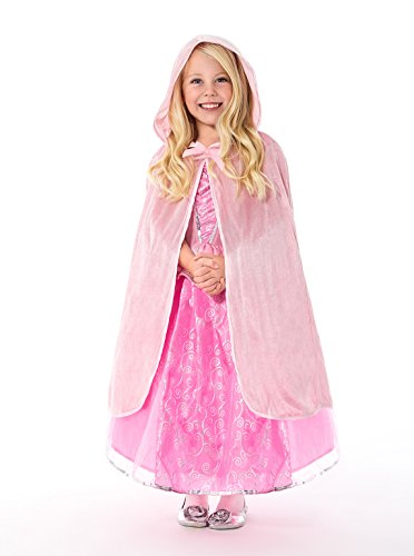 Little Adventures Traditional Pink Cloak Girls Costume - S/M (1-5 Yrs) (Pink Velvet Princess Costume)